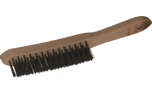 Wooden Handled Wire Brush - 290mm